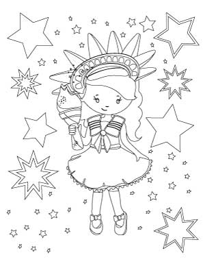 4th-of-july-girl-with-stars-coloring-page