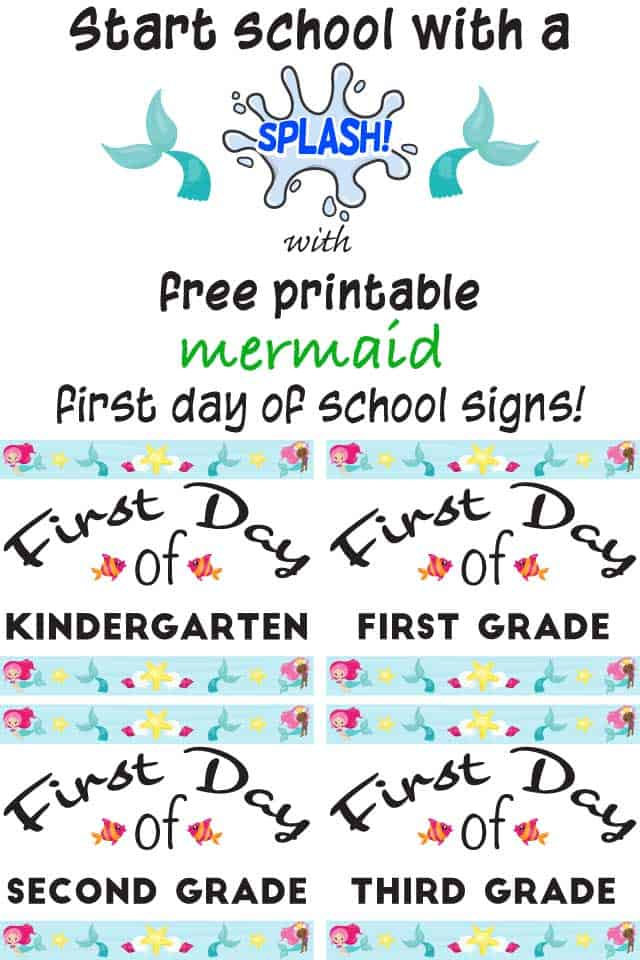 Start-school-with-a-splash-with-free-printable-mermaid-first-day-of-school-signs