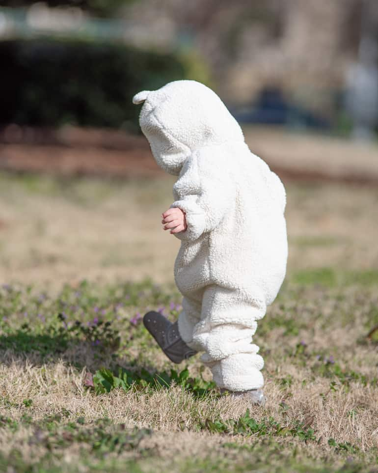 toddler wearing warm clothing