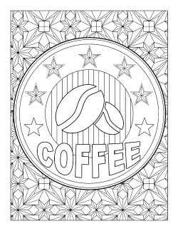 coffee coloring page printable