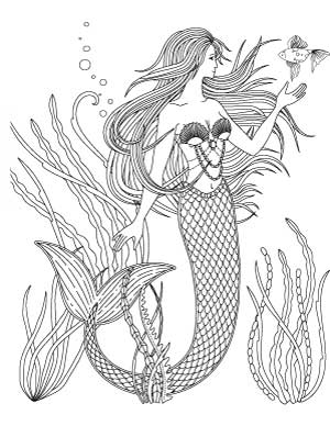 11 free printable mermaid coloring pages noprep activity for kids  the artisan life