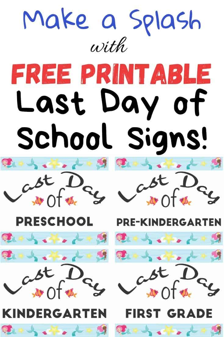 picture relating to Free Printable Signs named Totally free Printable Past Working day of College Signs or symptoms - The Artisan Lifestyle