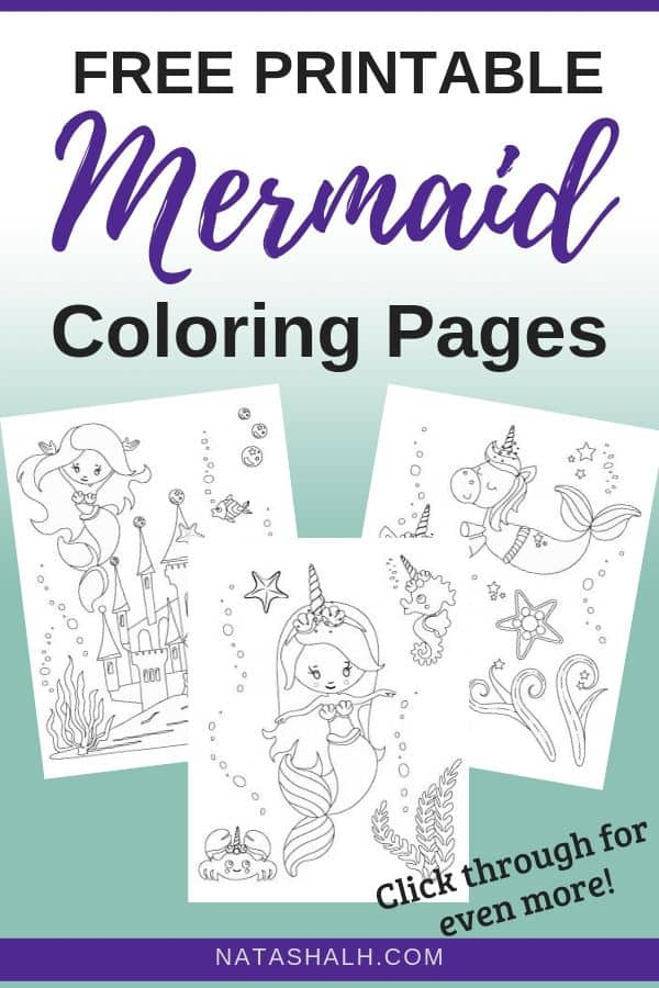 photo regarding Printable Mermaid Pictures named The Excellent No cost Printable Mermaid Coloring Internet pages - The Artisan