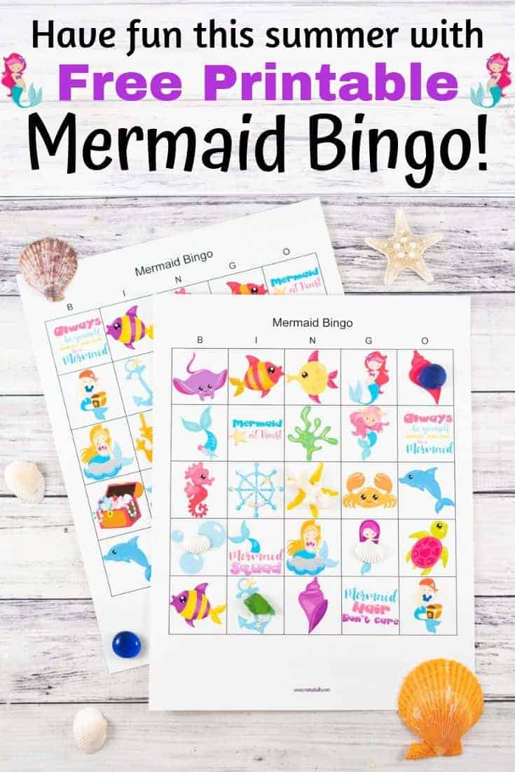 photo about Printable Mermaids called Totally free Printable Mermaid Bingo - The Artisan Daily life