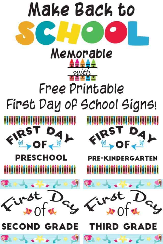 graphic about Free Printable Signs identified as Free of charge Printable Initially Working day College Signs and symptoms - The Artisan Daily life