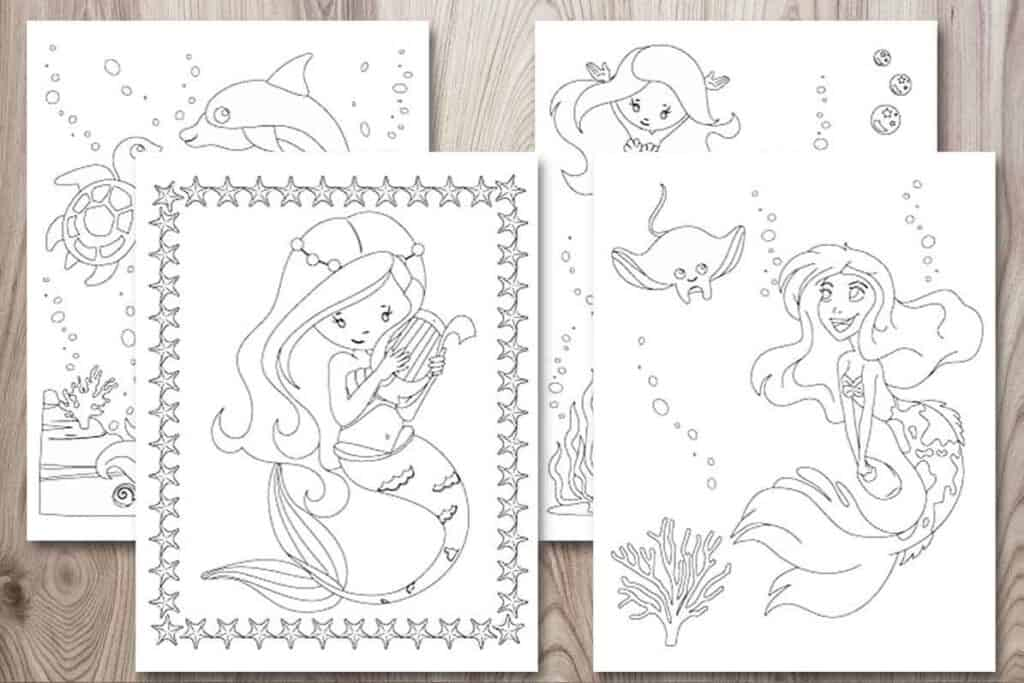 11+ Free Printable Mermaid Coloring Pages (no-prep Activity For Kids!) -  The Artisan Life