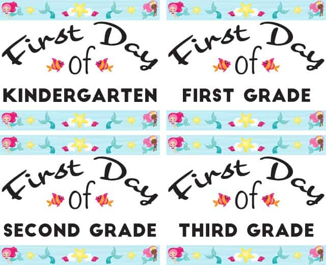 preview-of-mermaid-first-day-of-school-printables