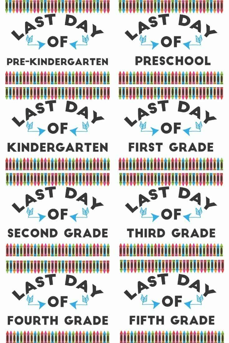 picture about Last Day of School Printable identified as No cost Printable Ultimate Working day of Higher education Indications - The Artisan Everyday living