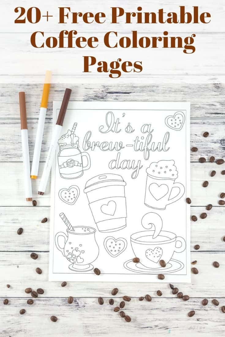 20+ Free Coffee Coloring Pages