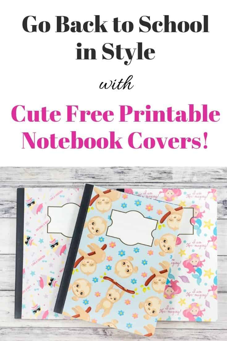 Easy DIY Notebook Cover (with Free Printables!)