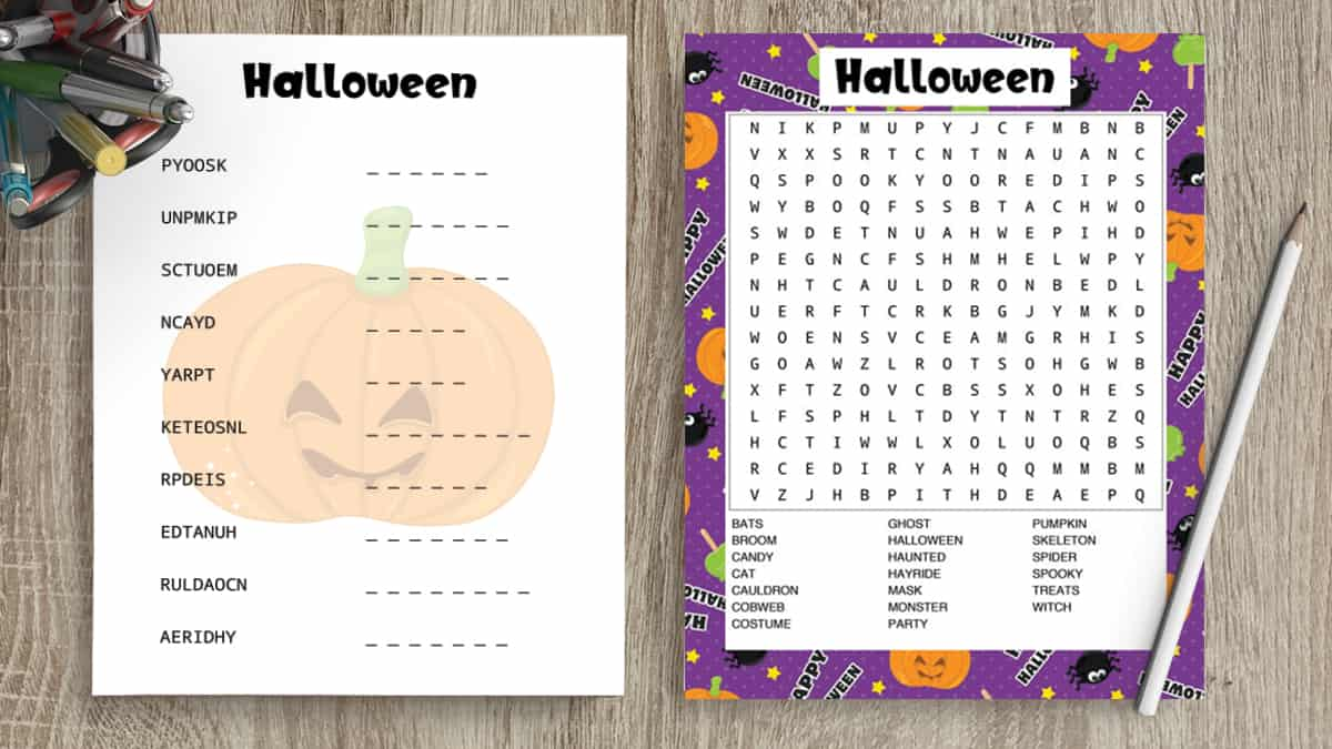 picture relating to Word Scramble Printable titled No cost Printable Halloween Term Appear Halloween Term