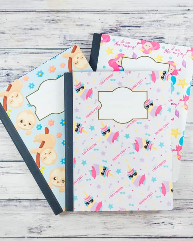 free printable notebook covers for back to school