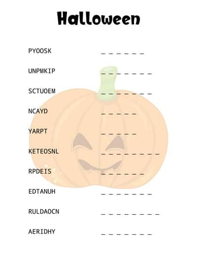 halloween-word-scramble-pumpkin
