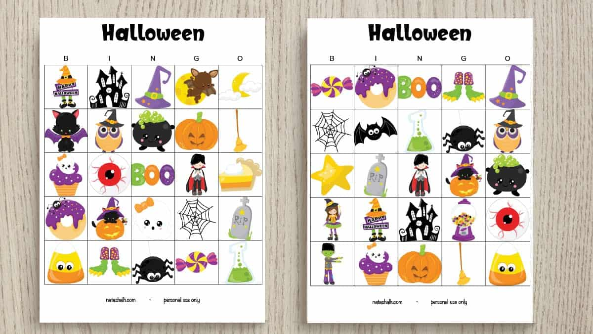 image relating to Printable Halloween Bingo referred to as Absolutely free Printable Hallowen Bingo Playing cards - The Artisan Daily life