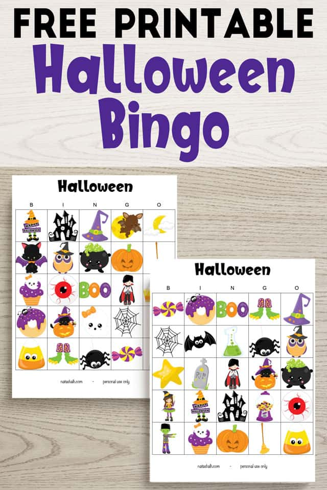 photo regarding Printable Halloween Bingo identify Absolutely free Printable Hallowen Bingo Playing cards - The Artisan Daily life