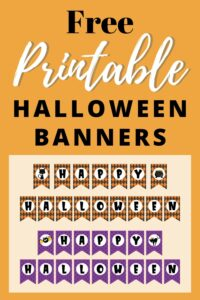 free printable happy halloween banners