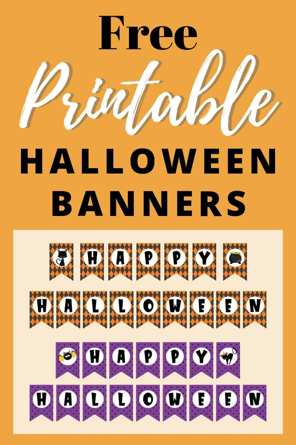 Free Printable Halloween Banner The Artisan Life