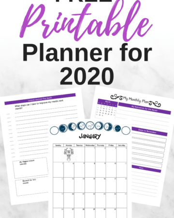 free planner printable for 2020