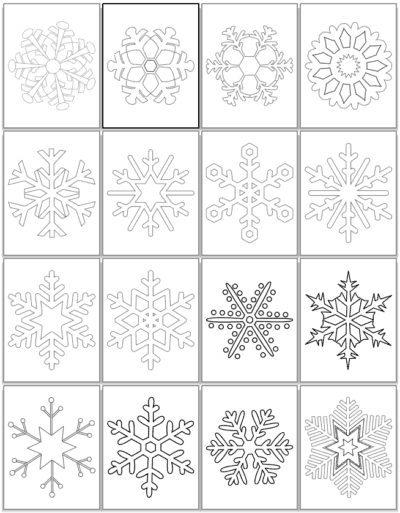 large printable snowflake coloring pages preview