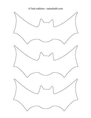 """6"""" bat-outline"""