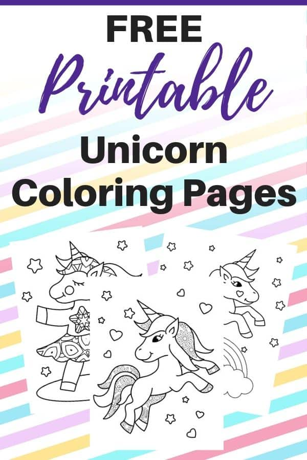 Free Printable Cute Unicorn Coloring Pages