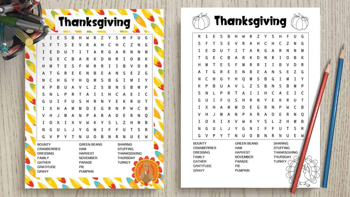 picture about Printable Thanksgiving Word Searches known as Cost-free Printable Thanksgiving Term Glance - American
