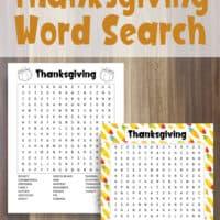 Free Printable Thanksgiving Word Search