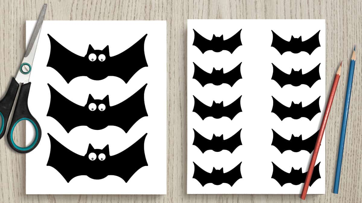 picture relating to Bat Outline Printable named 10+ Totally free Printable Bat Determine Templates - The Artisan Daily life