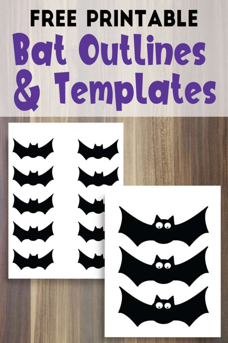 Free Printable Bat Outline Templates