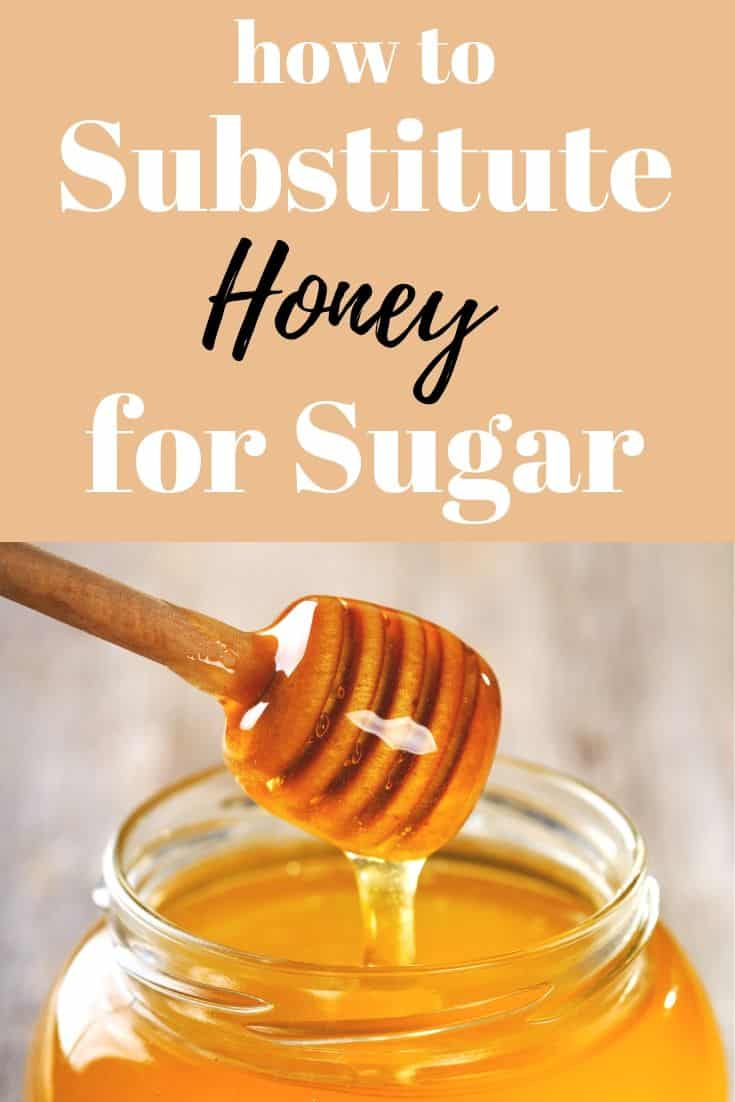 how to substitute honey for sugar