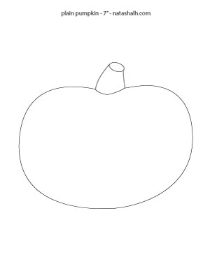 plain-pumpkin template-7-inch