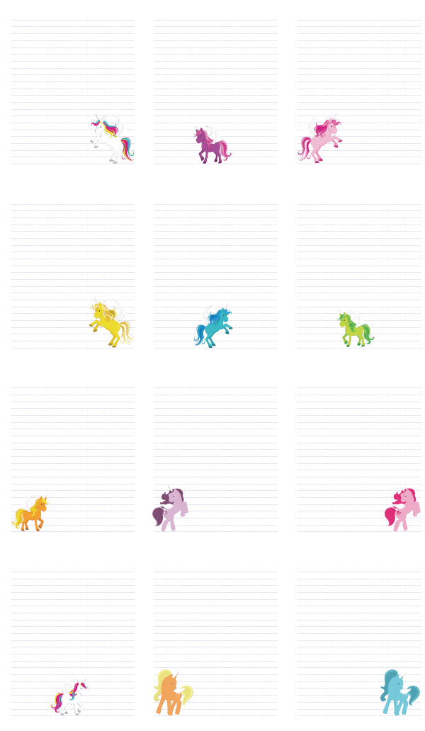 picture relating to Notebook Printable identified as Printable Lovable Unicorn Laptop computer Paper - The Artisan Lifetime
