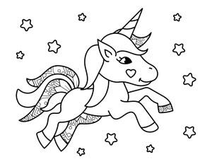 cute unicorn with stars
