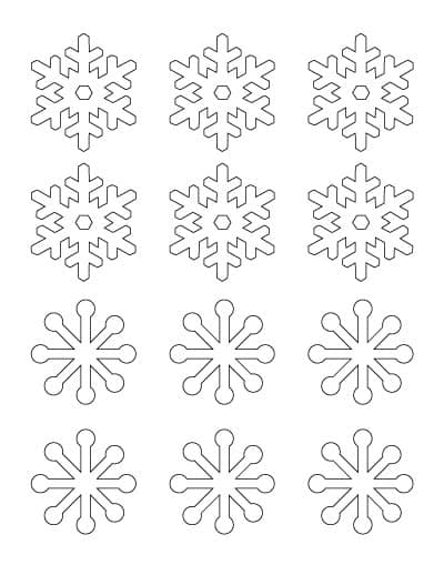 2-inch-simple-snowflakes