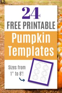 24 free printable pumpkin templates