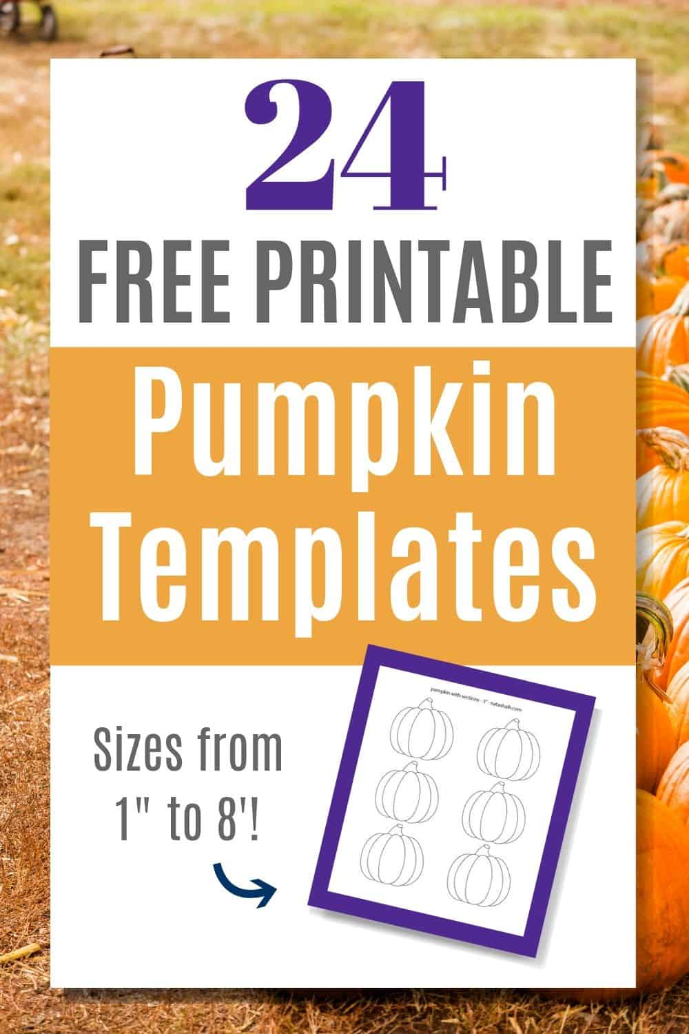 photograph relating to Printable Pumpkin Outline identified as 24 No cost Pumpkin Determine Printables - The Artisan Daily life
