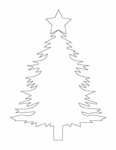 Christmas-tree-with-star-coloring-page