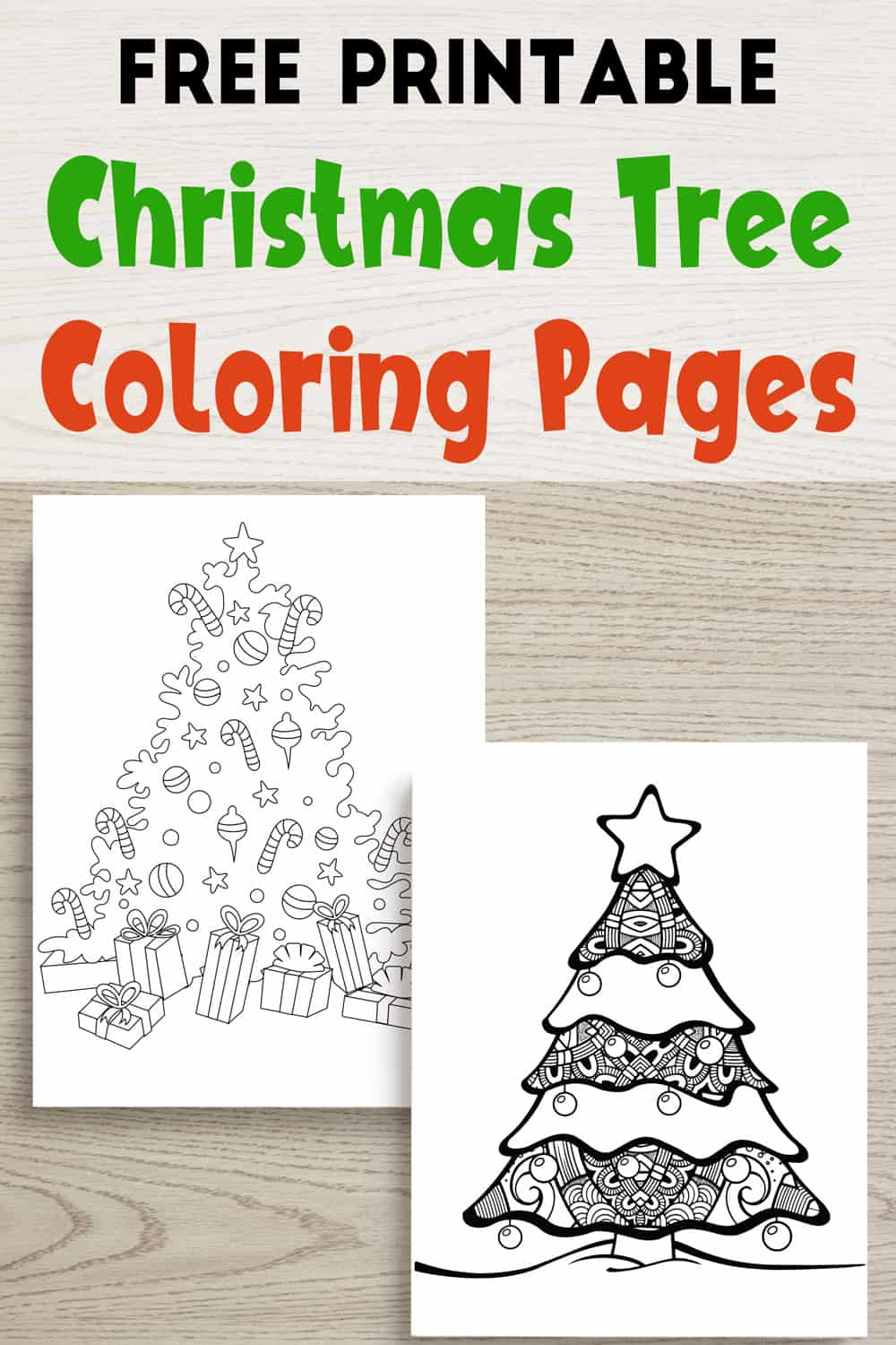 picture regarding Free Printable Christmas Tree identified as Absolutely free Printable Xmas Tree Coloring Internet pages - The Artisan Everyday living