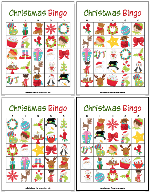 graphic relating to Free Printable Christmas Bingo Cards for Large Groups known as No cost Printable Xmas Bingo - The Artisan Lifestyle
