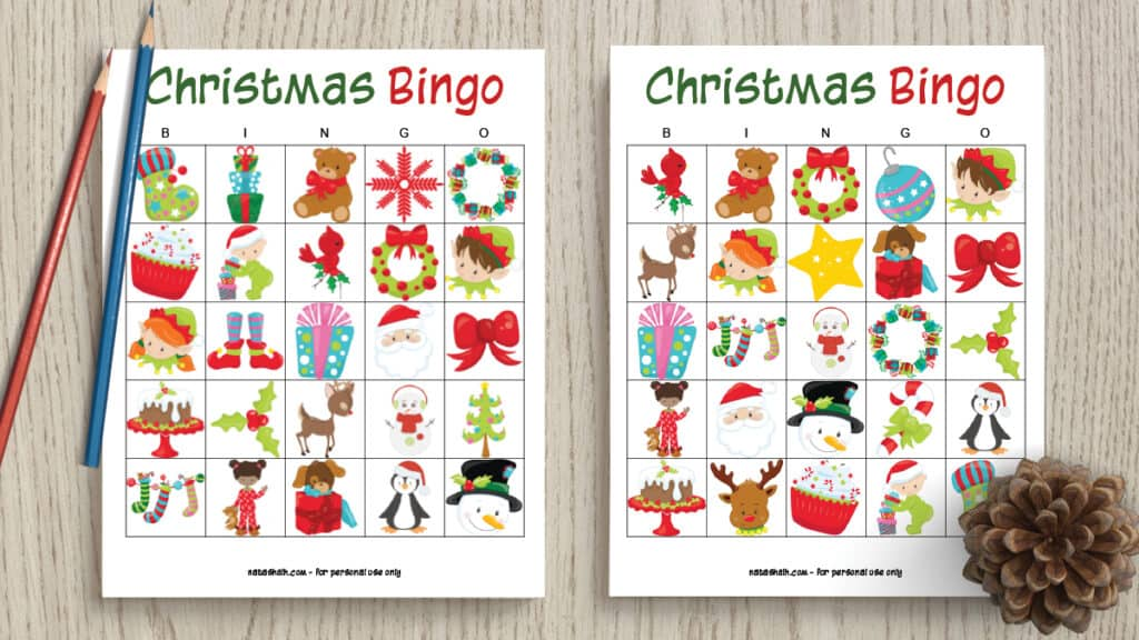 graphic relating to Holiday Bingo Printable identify Absolutely free Printable Xmas Bingo - The Artisan Lifestyle