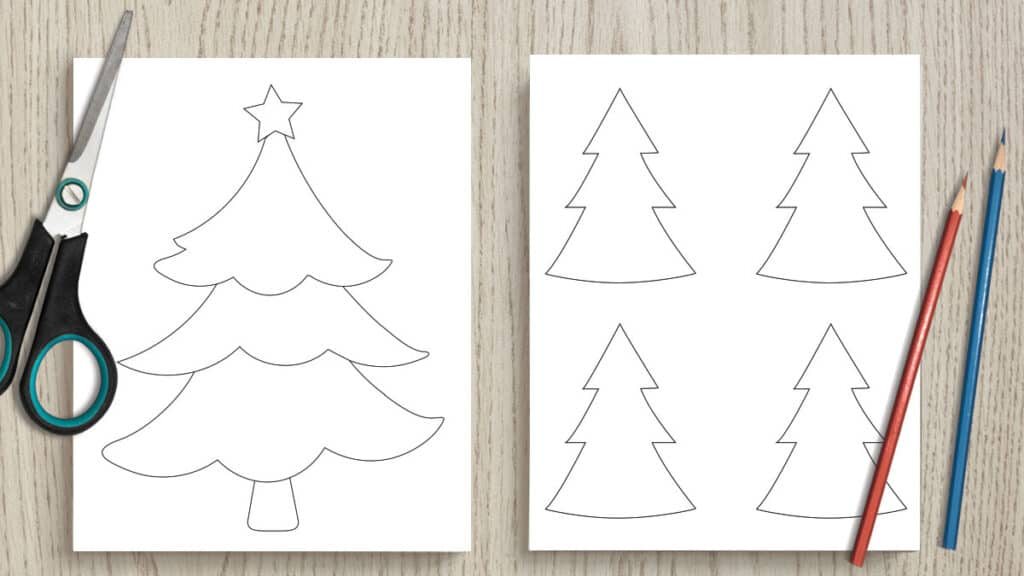 photograph relating to Tree Pattern Printable called No cost Printable Xmas Tree Define Templates versus 2\
