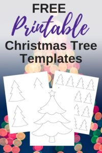 free printable christmas tree template printables