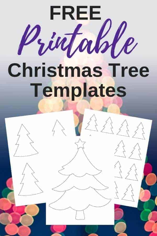 Printable Christmas Tree Outline Template