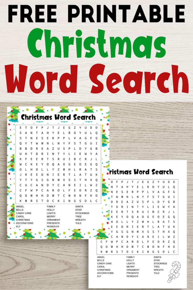 7+ Free Printable Christmas Word Searches