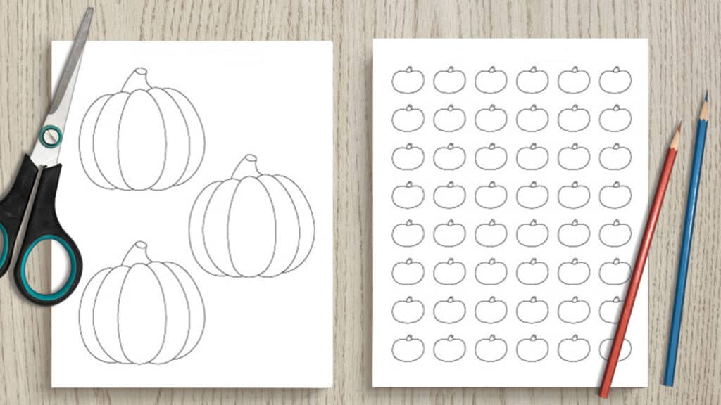 image relating to Printable Pumpkin Pictures named 24 Absolutely free Pumpkin Define Printables - The Artisan Existence