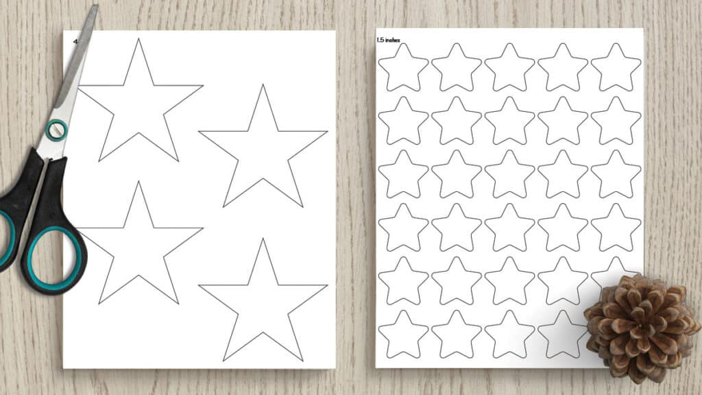 It's just a graphic of Printable Stars within clipart