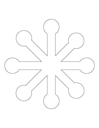 large-simple-snowflake-template
