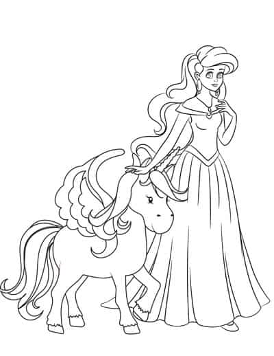 25+ Free Printable Princess Coloring Pages - The Artisan Life