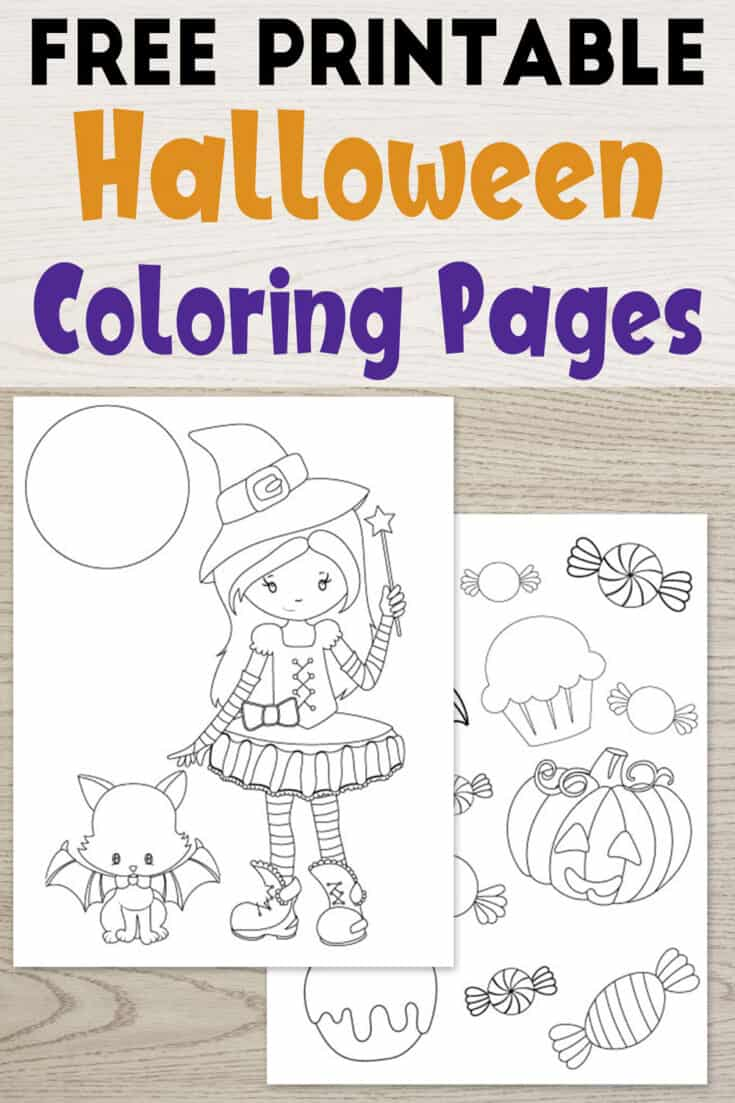 25+ Free Printable Halloween Coloring Pages