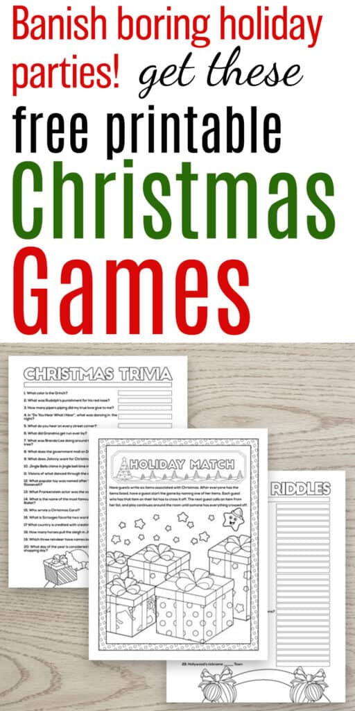 free printable christmas party games for groups